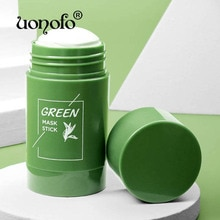Green Tea Purifying Clay Stick Oil Control Anti-Acne Eggplant Solid Fine Cleaning Mask Skin Care Pro