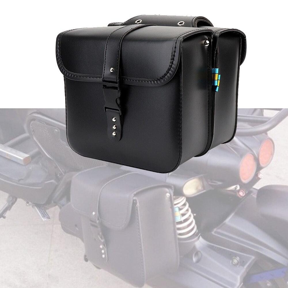 حقائب سرج من الجلد الصناعي للدراجات النارية ، عالمي ، لسوزوكي ستريت s40 ، لهوندا سبيريت ، VT1100C ، ياماها 250 V ، ستار ريبيل 250
