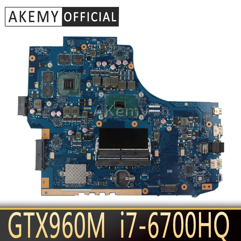 Placa base para ordenador portátil Akemy GL752VW para ASUS GL752VW GL752V GL752 prueba placa base original I7-6700HQ GTX960M FX71PRO
