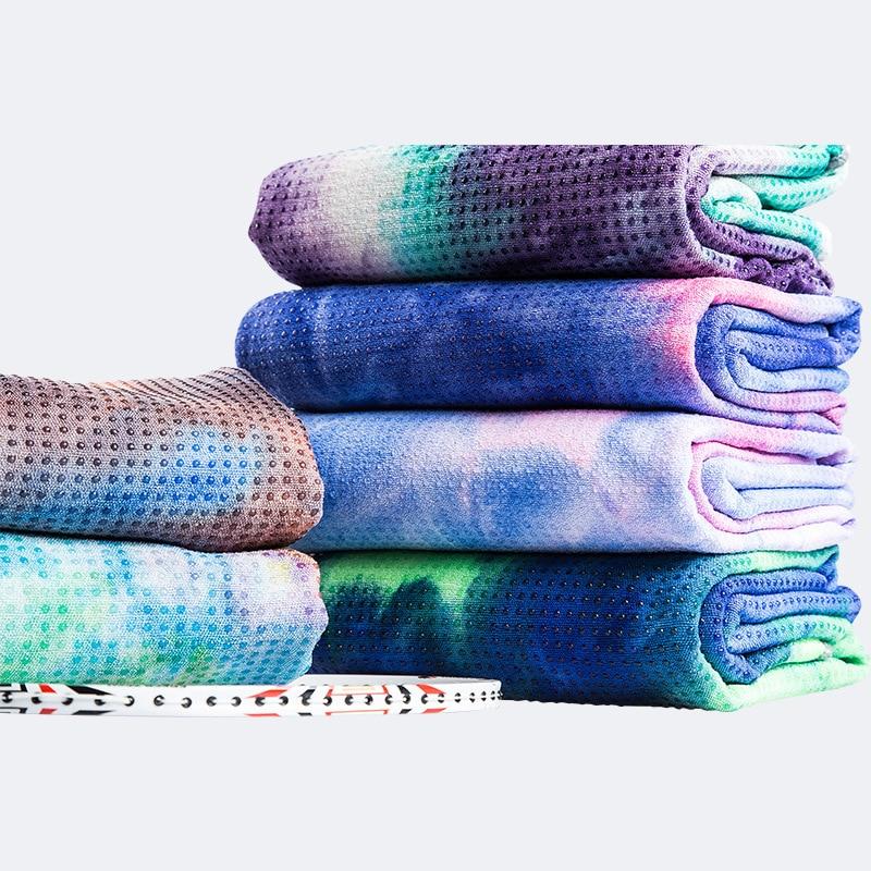 Frauen Yoga Matte Sport Fitness Yoga Handtuch Tie Dye Yoga Decken 183cm Schnell Trocknend Einfach-zu-waschen Saugfähigen handtuch