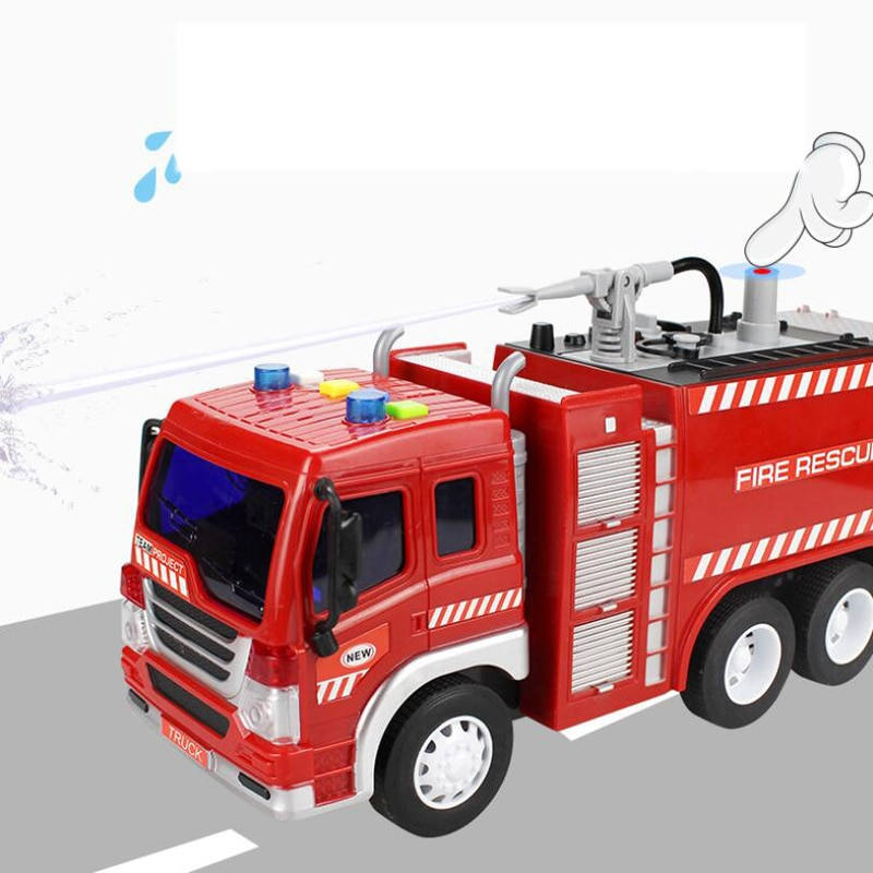 enlighten 970pcs fire rescue headquarters sation centre helicopter truck fireman assemble toy car building blocks toys Spray Water Truck Toy Fireman Fire Truck Car Music Light Educational Toys  Engineering Vehicle Fire Truck Drop Resistance Toy