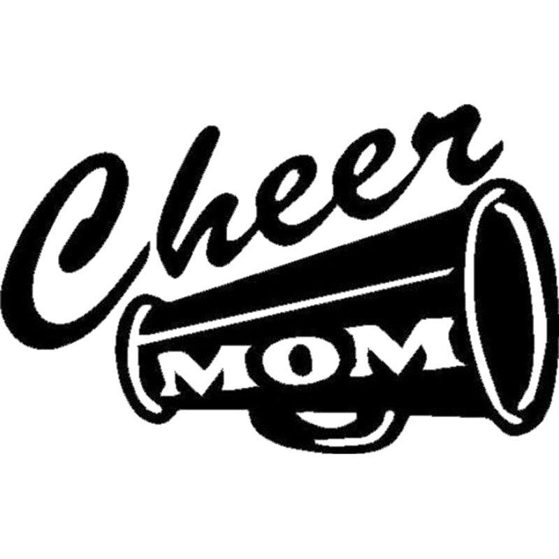 15.2cm * 9.7cm cheer mom decalque de vinil adesivo esporte pompons cheerleader futebol janela estilo decalque acessórios preto tira