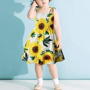 Dresses For Women 2021 Baby Girl Clothes Evening Dress 2 Toddler Kids Baby Girls Sunflower Slip Dress Floral Beach Dress Clothes