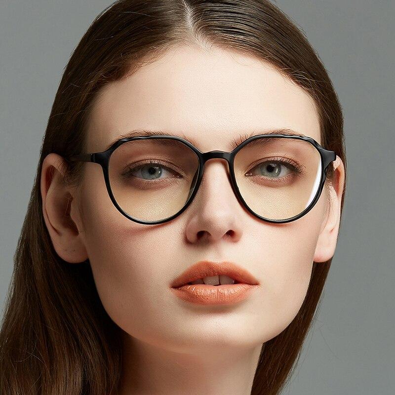 Gafas ópticas redondas transparentes para mujer y hombre, lentes decorativas a la...