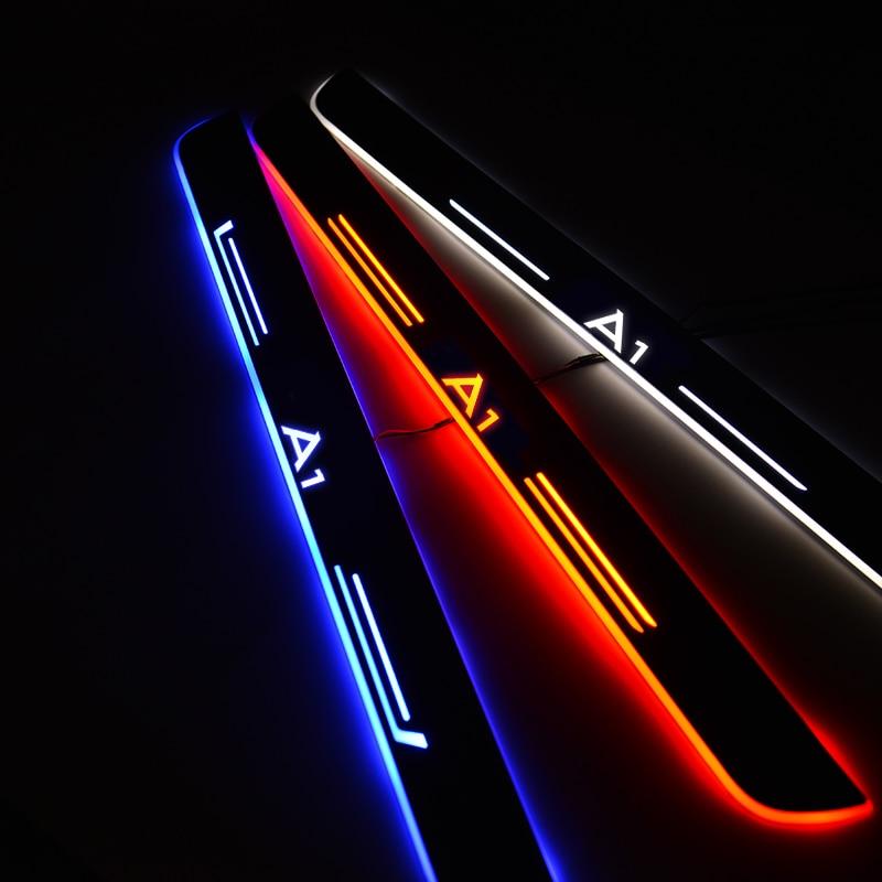 Umbral de puerta LED para coche para Audi A1 Sportback GBA 8XA 8XF 2011-2020, placa de desgaste para puerta, umbral de Pedal, luz de bienvenida, accesorio para coche