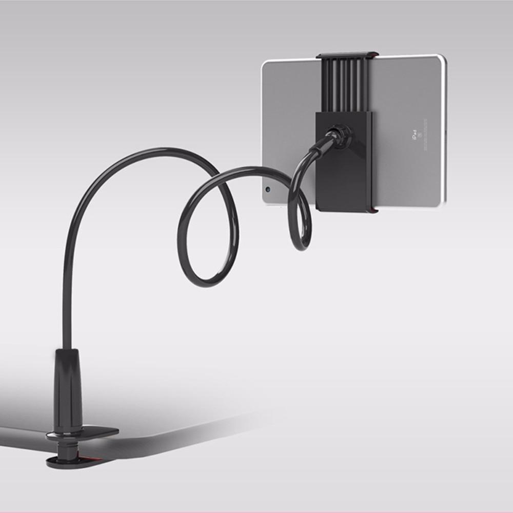 New Gooseneck Tablet Holder 360 Rotating Flexible Long Arm lazy Phone Holder Clamp Bed Tablet Car Selfie Mount Bracket for 4-10