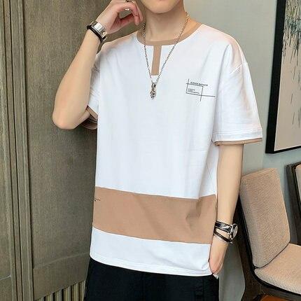Summer men's business casual short sleeve t-shirt   255