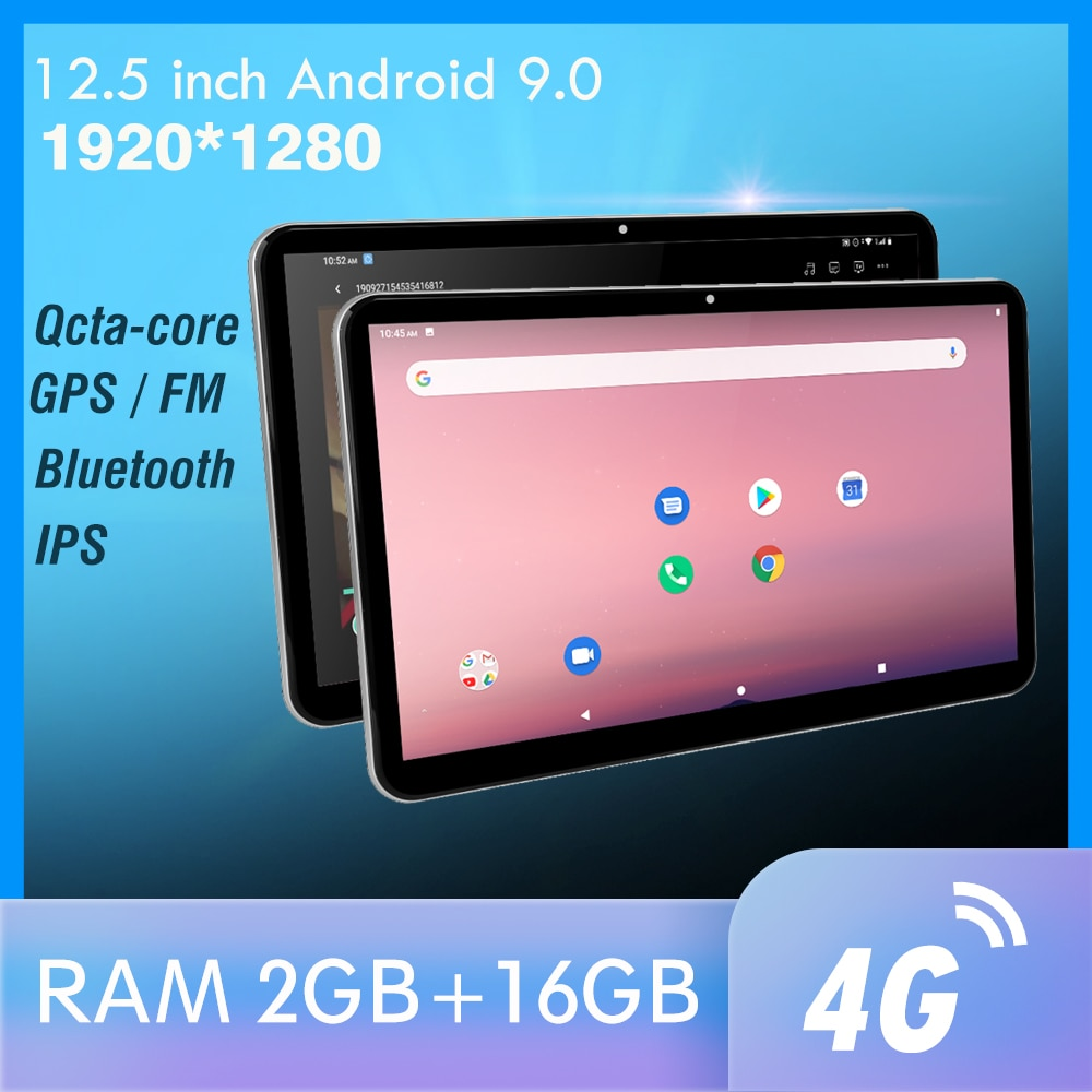 12.5 inch Android Car Headrest Monitor 1920*1280 video IPS Touch Screen GPS 4G WIFI/Bluetooth/USB/FM/Camera MP5 Video DC Player