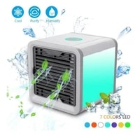 portable air cooler fan mini usb 7 colors light fan air conditioner humidifier purifier desktop air cooling fan for office home