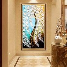 Gatyztoire 60x120cm fleur arbre peinture à la main par numéros grande taille abstraite moderne mur Art photo calligraphie peinture pour la maison