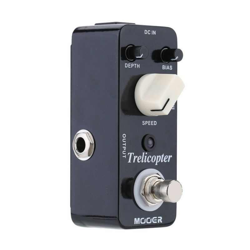 MOOER MTR1 Trelicopter Effects Pedals Tremolo Bass Pedal Reverb Power Supply Pedals Musical Accessories Electric Guitars Music enlarge