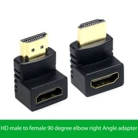 dvi male hdmi compatible female 90270 right angle adapter degree elbow two way conversion computer video connector