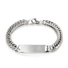 1pcs Punk Stainless Steel Link Chain Bracelets Mens Womens Bracelets  Wristband Bangle Jewelry For M