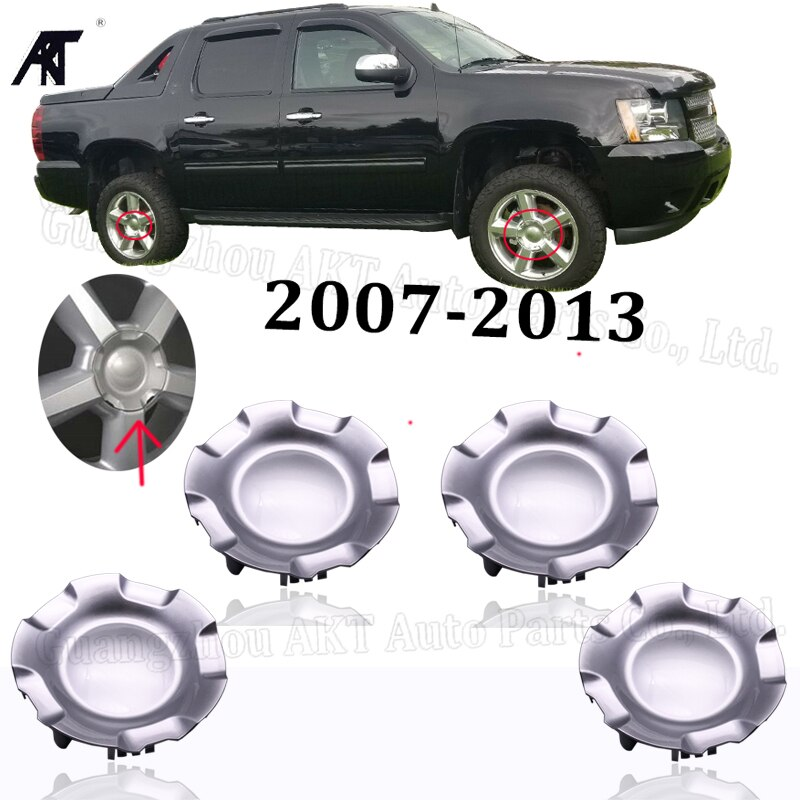 4x tapas del centro de la llanta de la rueda plateada para Chevrolet aluanche 2007-2014 cubierta del eje 9597686, 595152
