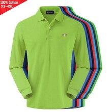 100% Cotton 2019 Top quality New Spring Autumn Men's long sleeve polos shirts casual mens polos shirts fashion mens tops XS-4XL