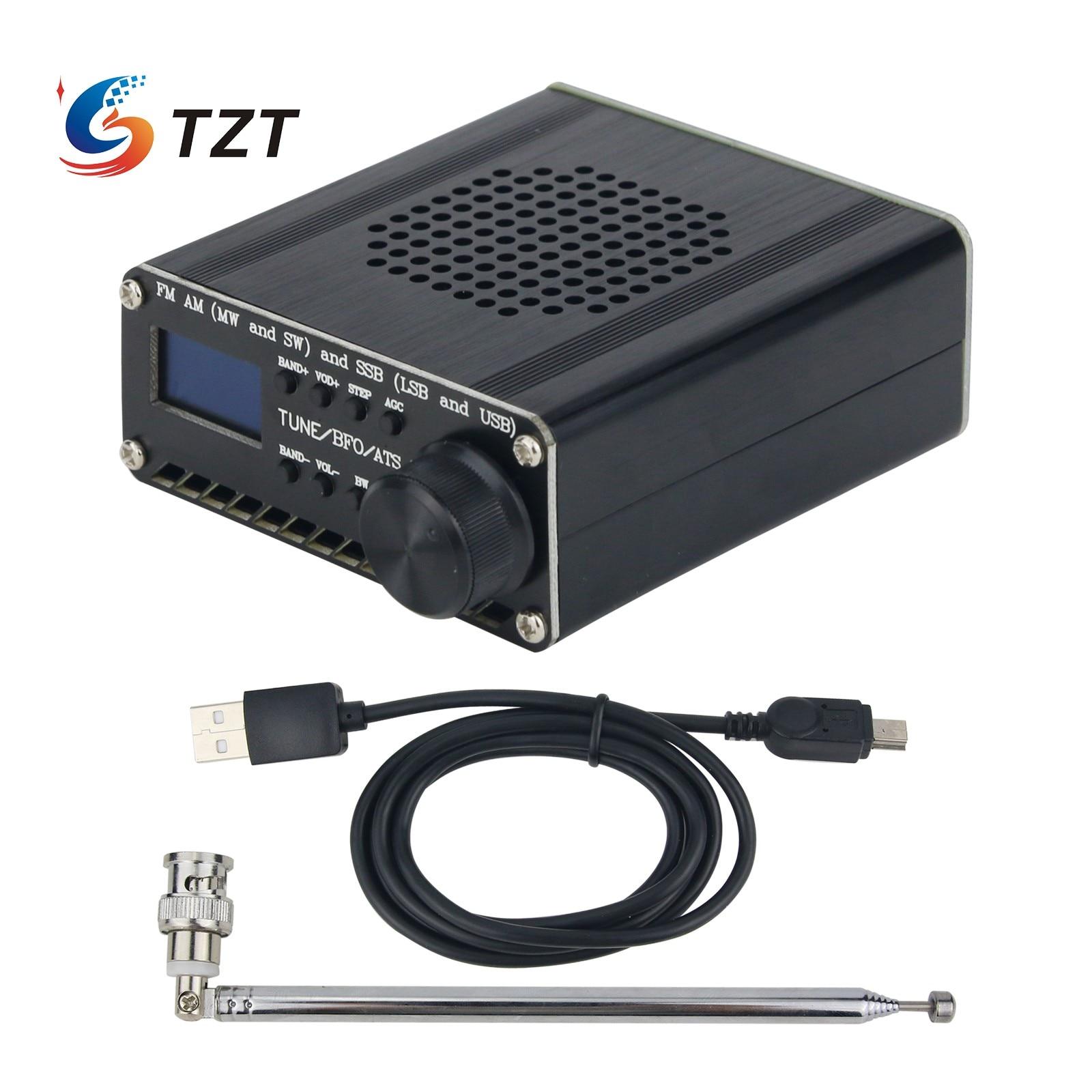 تجميعها SI4732 جميع الفرقة راديو استقبال FM AM (MW & SW) SSB (LSB & USB) مع بطارية ليثيوم + هوائي + مكبر صوت + حافظة