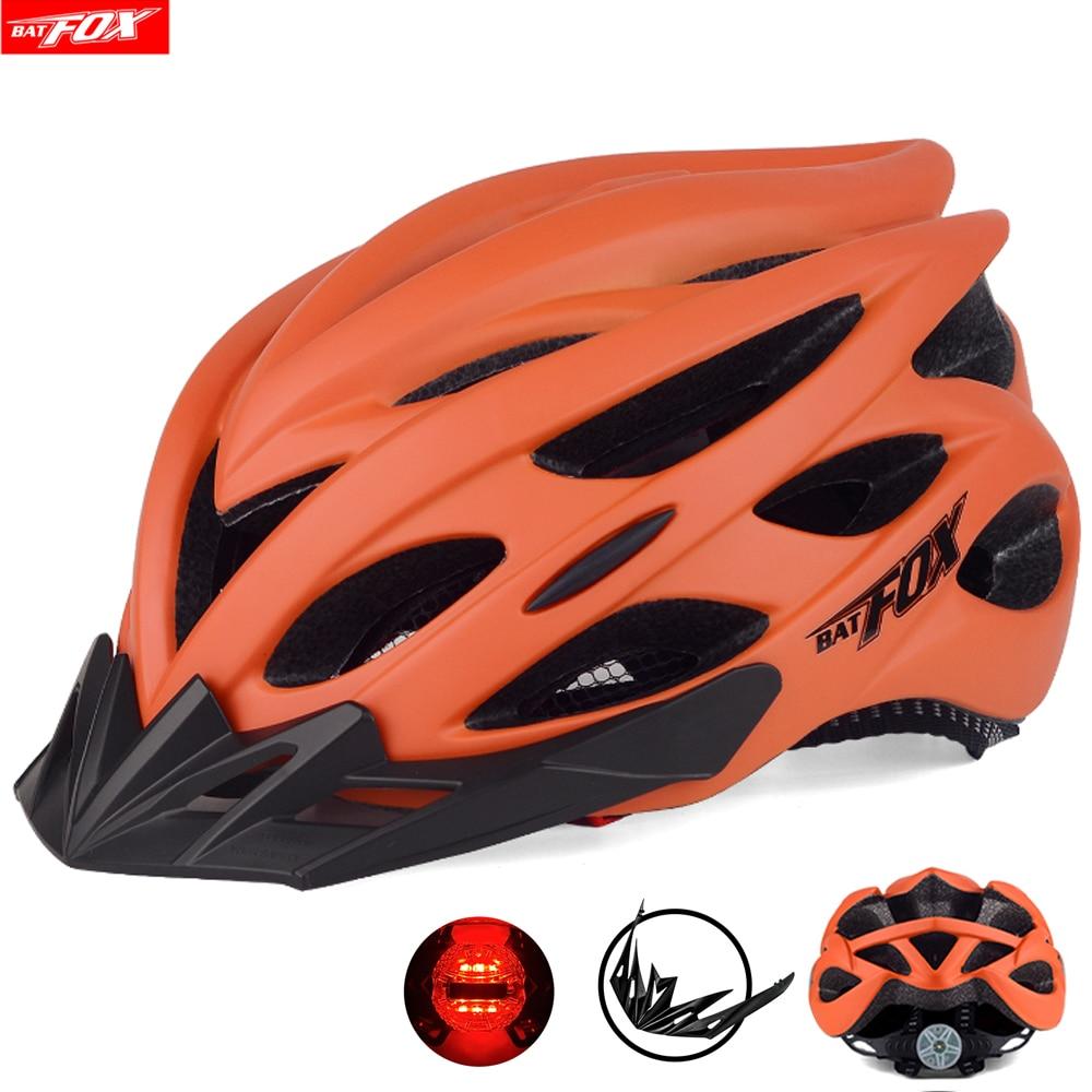BATFOX-casco de ciclismo ultraligero para hombre y mujer, de 201g, con luces