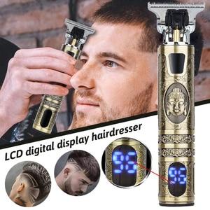 T Bald Head Hair Clipper Mower Rechargeable Trimmer Vintage Cordless Haircut Men Cutter Shaver T-Outliner Barber Shaving Machine