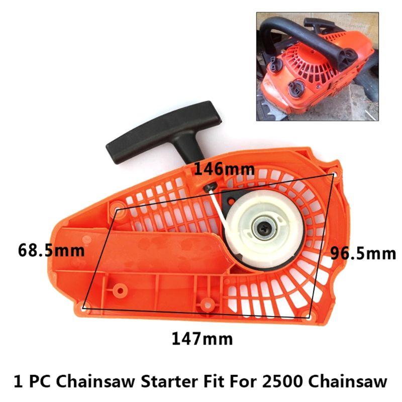 Gasoline Chainsaw Pull Starter Fit 2500 25CC Chainsaw Brush Cutter Parts E7CB