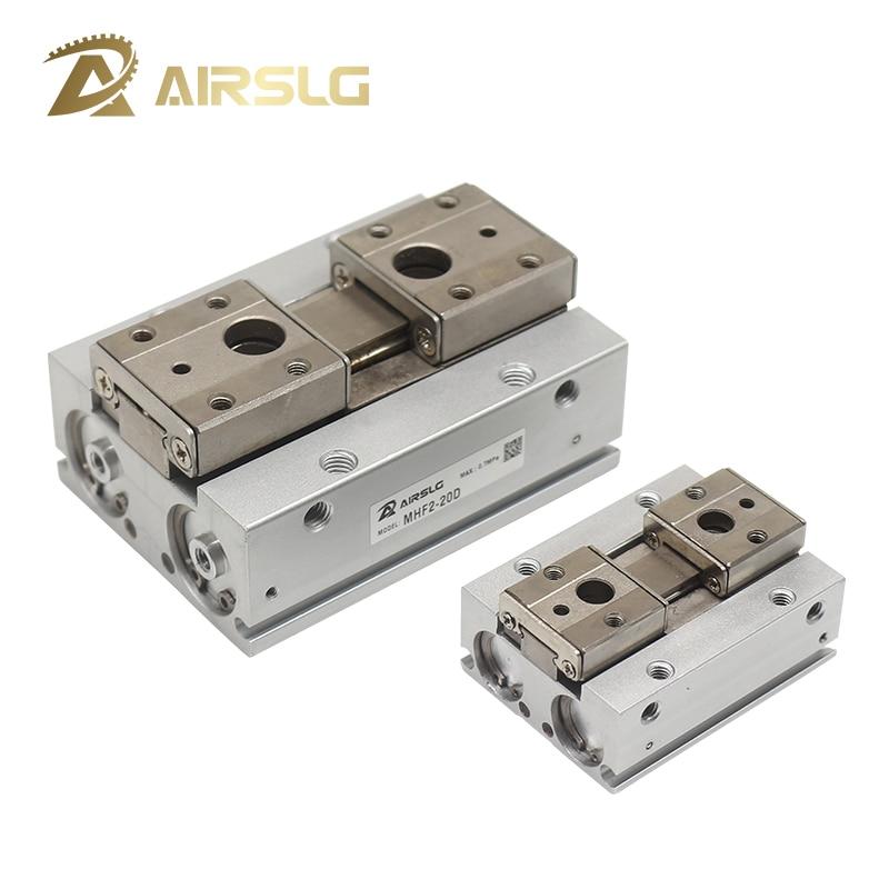 MHF2 pinza de aire de doble acción de bajo perfil cilindro neumático pinza paralela serie MHF2-8D 16D 20D D1 D2 pinza neumática