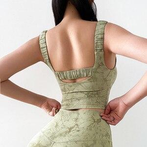 Sexy Print Design Sports Bra Workout High Support Sport Top Crop Fitness Active Wear Women Yoga Underwear Gym Brassiere