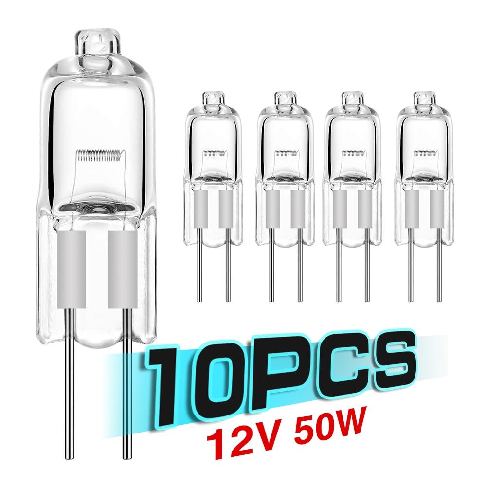 10pcs Ultra low price G4 12V 5W/10W/20W/35W/50W light bulbs inserted beads crystal lamps halogen bul