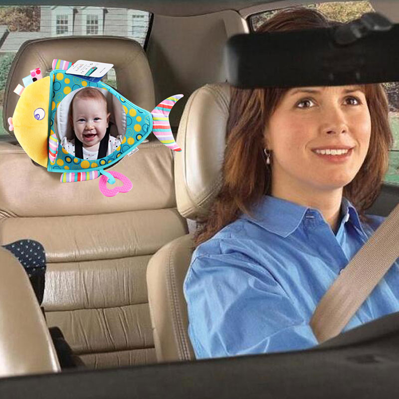 Красочное зеркало в виде рыбы, детское автомобильное зеркало для безопасности, зеркало для заднего сиденья, детский уход за младенцами, мон...