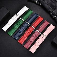 Nouveaux Bracelets de montre en cuir véritable matériel souple Bracelets de montre 14mm 16mm 18mm 20mm 22mm bracelet de montre hommes femmes Bracelets