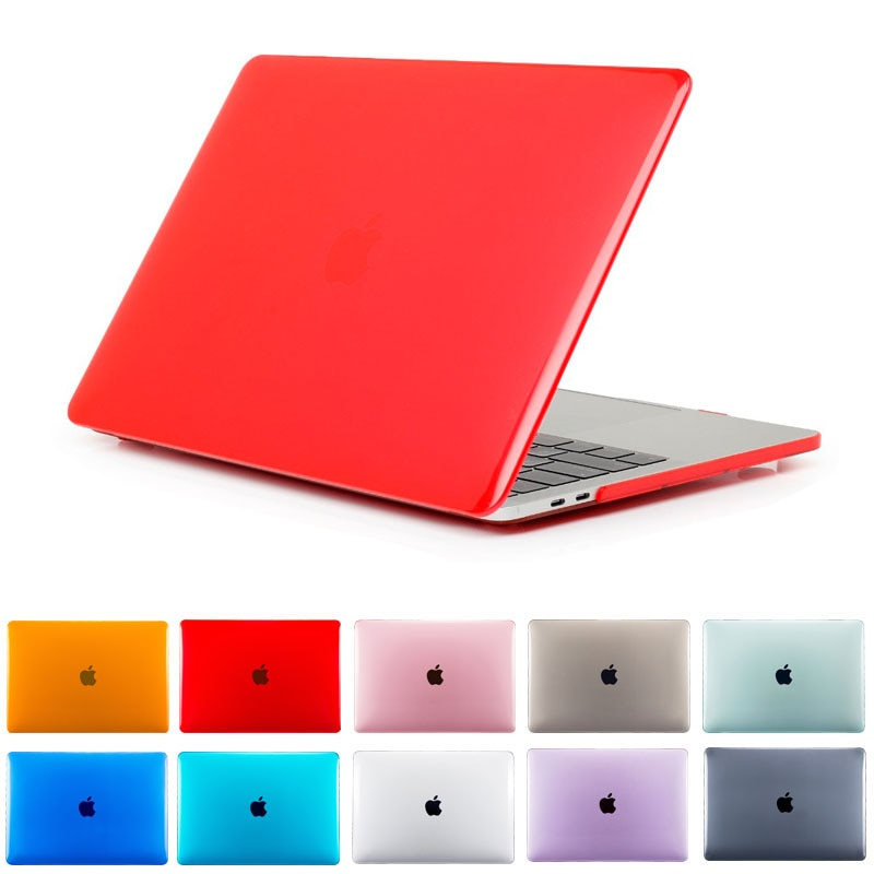 Crystal Hard Laptop Case for Macbook AIR Retina 11 12 inch with Touch Bar Cover For Macbook New Pro 13 15.4 Shell A2159 A1932 ID