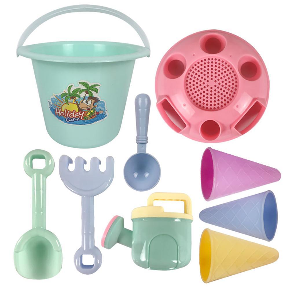 9 шт пластиковые детские набор пляжных игрушек Песок игровой набор прочный многоразовая забавная открытый песок инструменты для копания во...