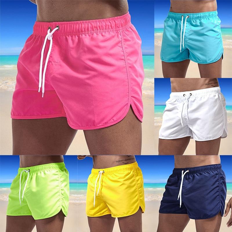2021 Summer Men's Swimwear Shorts Brand Beachwear  Swim Trunks Men Swimsuit Low Waist Breathable Beach Wear Surf