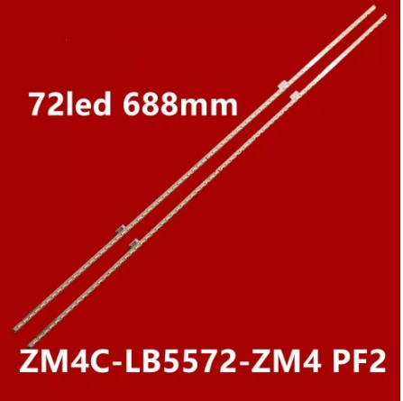 LED شريط إضاءة خلفي ZM4C-LB5572-ZM4 LB5572-PF2 ل TCL L55E5700A-UD D55A561U D55A571U LE556700A-UD شاشة LVU550SE4L 72led 688M