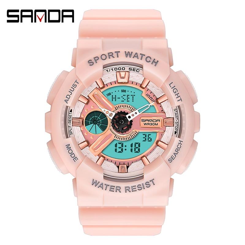 Fashion Digital Quartz Watches Women Luxury White Silicone Bracelet Watches Ladies Dress Clock LED Sports Watch Relojes Mujer enlarge