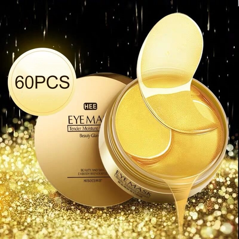 Gold Gel Eye Mask Hydrating Firming Skin Remove Dark Circles Eye Bags Anti-Aging Eye Pads mask