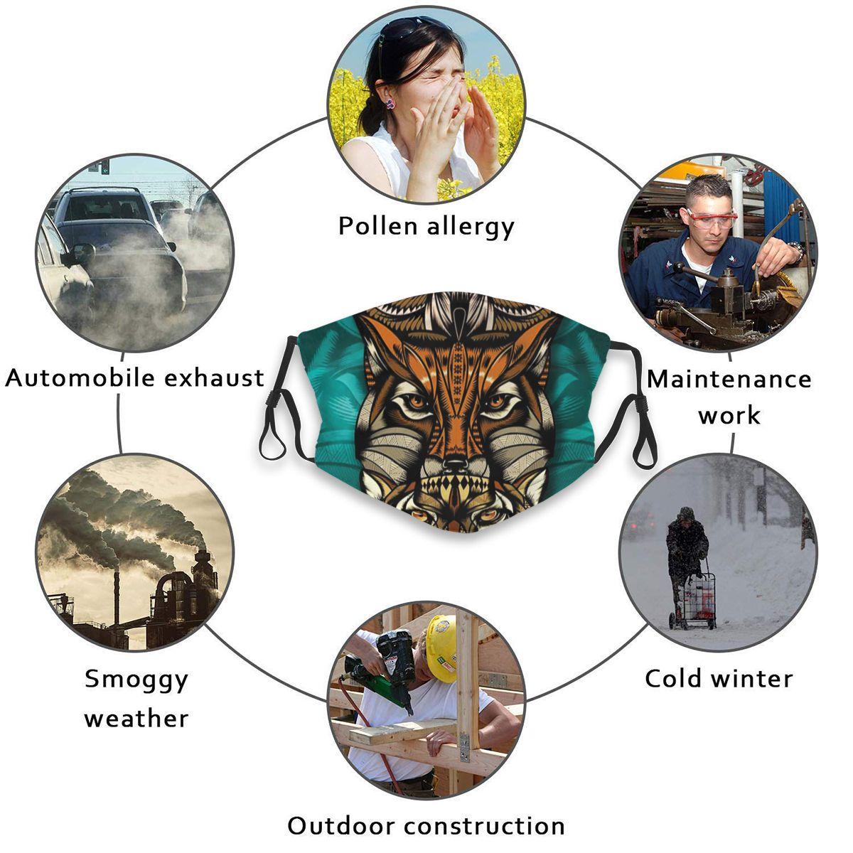 Anti-Pollution Outdoor Riding Quick-drying Dustproof Pop Cat Owl Wolf Maya Art Keep Warm Mask Sport Reusable