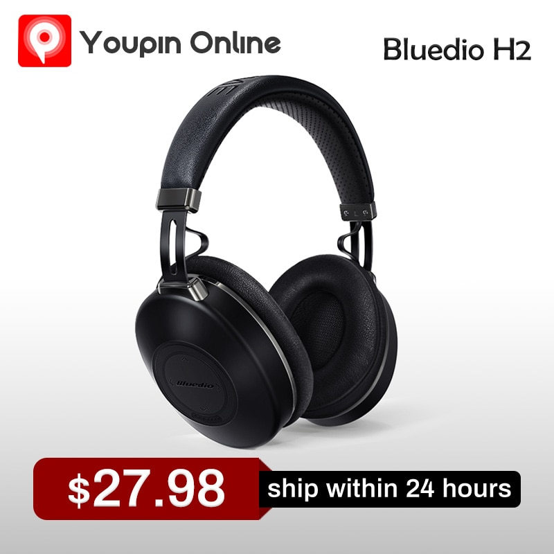 Bluedio H2 Wireless Headphone Active Noise Cancelling Bluetooth 2020 User-defined Original Headset for Cell Phones New