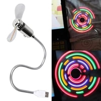 Portable Electric Fan USB Desk Fan with 5 Color LED Light Switchable LED Light Cool Gadget Summer Radiator Mini Air Cooler