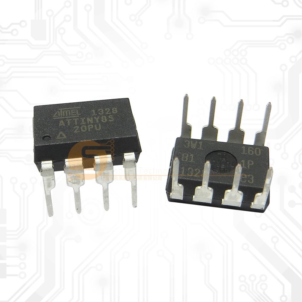 Original 10PCS ATTINY85-20PU ATTINY85 20PU ATTINY85- 20 ATTINY85 DIP Diy Electronic 85 For Arduino IDE TINY85 8P 8 PIN 8PIN недорого