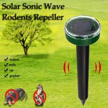 Outdoor Ultrasonic Pest Repeller Garden Mole Repellent Solar Power   Snake Bird Mosquito Mouse Control  Yard
