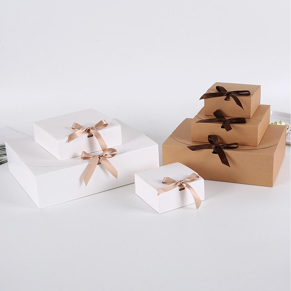 Wedding Birthday Christmas Gift Box 10pcs Event & Party Supplies Packaging White/Kraft/Black Hnadmade Candy Chocolate Box