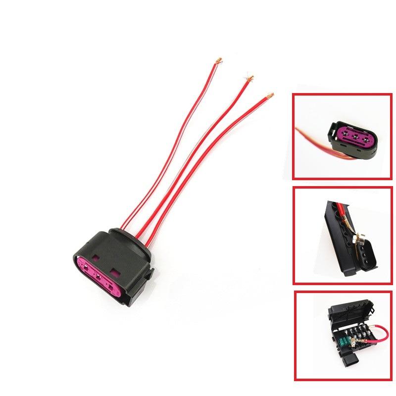 Auto AC AD Battery Circuit Fuse Box Cable Wire Plug 3Pins For Golf 4 MK4 Bora Beetle Octavia Seat Leon Toledo A3 S3  1J0 937 773