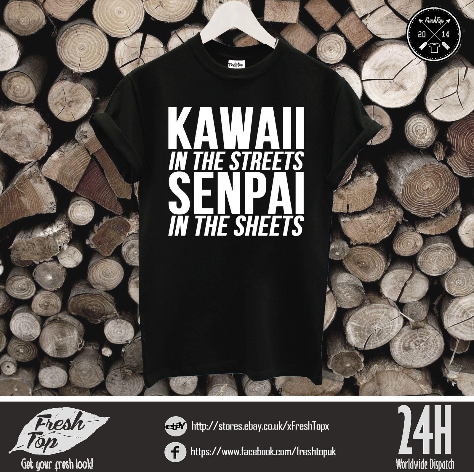 Kawaii en las calles Senpai en las hojas camiseta Japón Anime Manga Cute Psycho