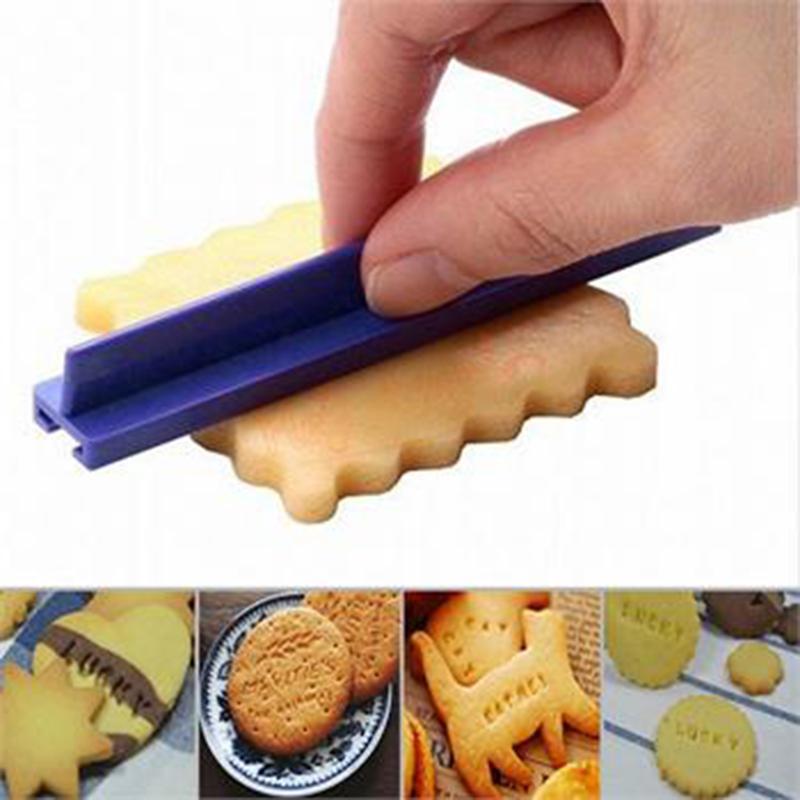 Número do alfabeto molde de cozimento biscoito 3d carimbo de impressora braille cortador fondant bolo moldes diy cortador amarelo molde fondant
