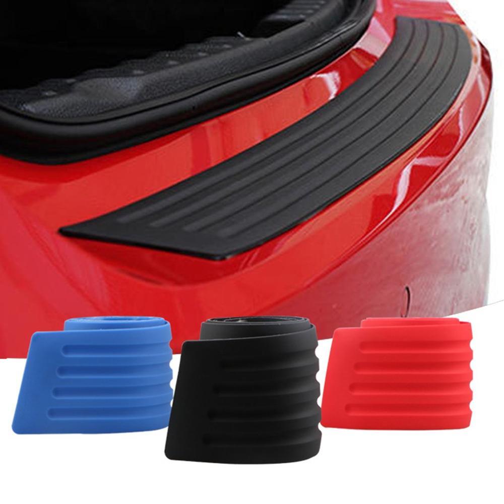 Protector de parachoques de automóvil de goma protector de tira de protección contra arañazos protector de parachoques trasero pegatina protectora de coche