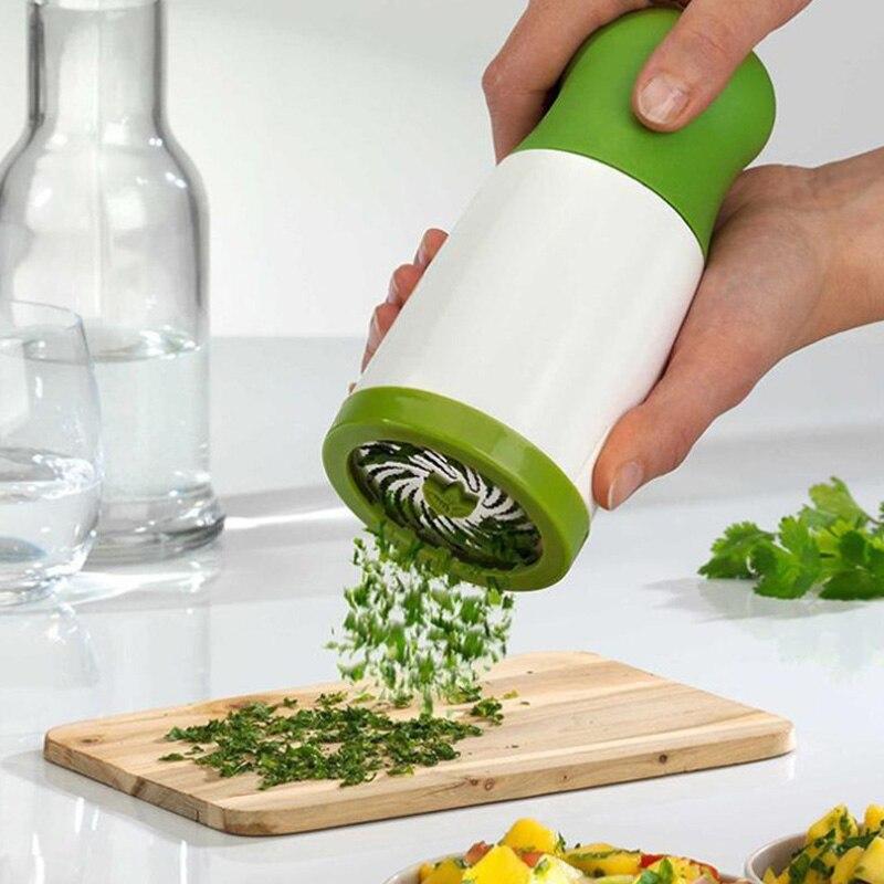 المنزلية الكزبرة المروحية التقطيع العشبية بهار متعددة الوظائف مبشرة الخضار سحق أداة مساعد جيد في المطبخ