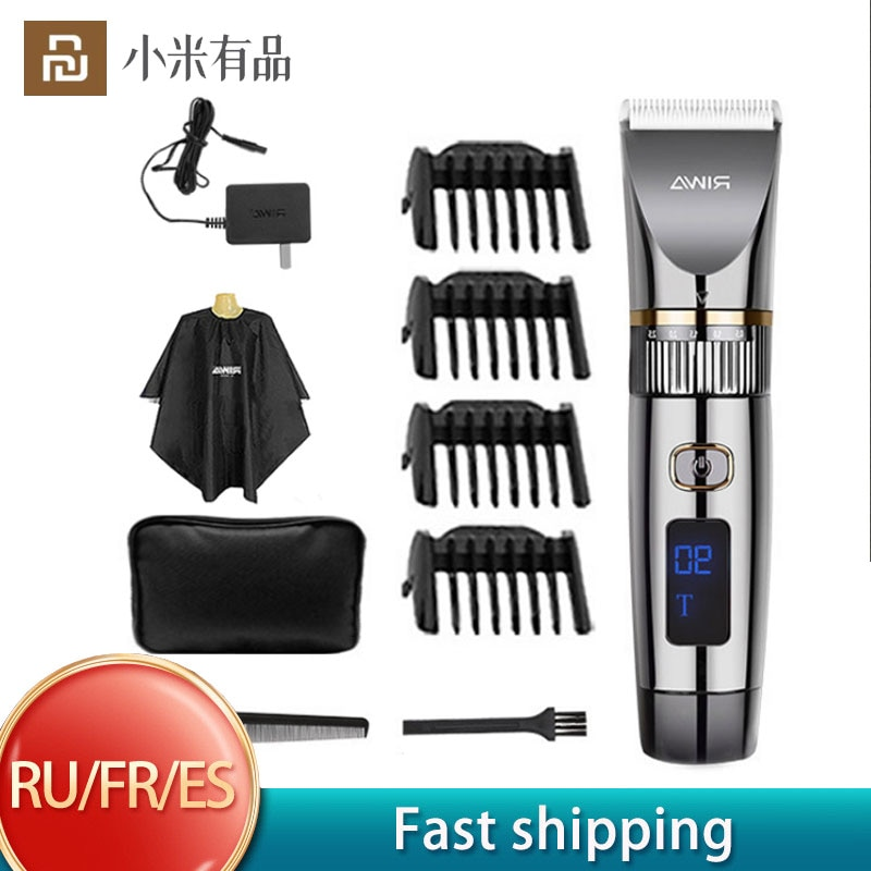 Riwa-ماكينة قص الشعر الكهربائية 6501T للرجال ، ماكينة قص الشعر الاحترافية المقاومة للماء ، ماكينة قص الشعر اللاسلكية