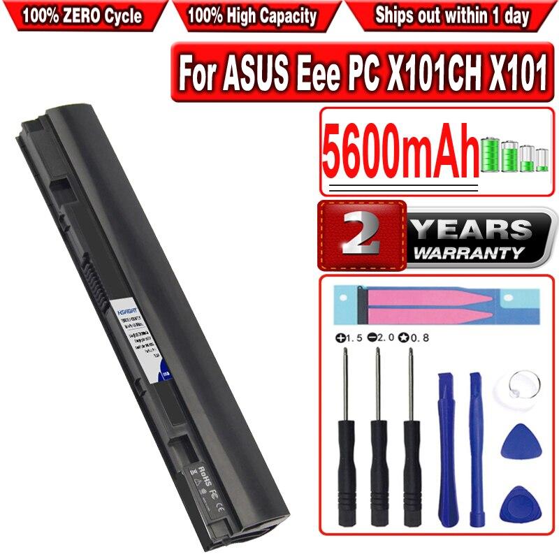 Hsabat 5600mah bateria do portátil para asus eee pc x101ch x101 x101c x101h substituir A31-X101 A32-X101