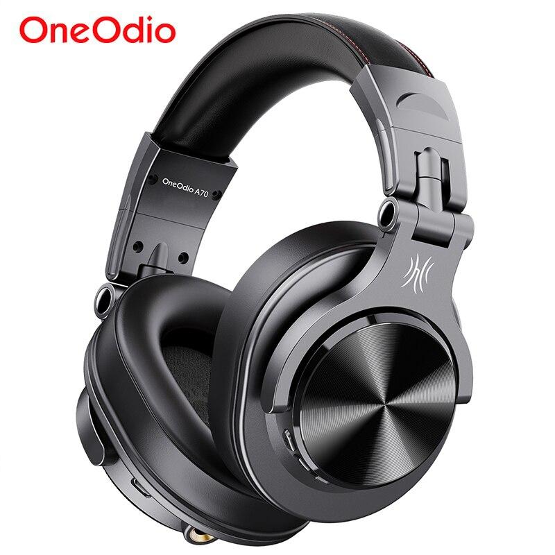 Oneodio Fusion A70 سماعات بلوتوث ستيريو فوق الأذن سماعات رأس لاسلكية المهنية تسجيل استوديو رصد DJ سماعات
