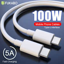 100W USB C To USB Type C PD 5A Fast Charging Cable For Xiaomi Redmi Note 10 Samsung A52 S20 Huawei Mobile Phone Cables Data Cord
