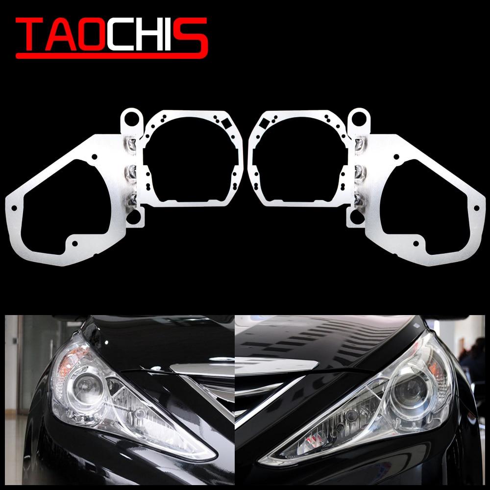 TAOCHIS Car-Styling frame adapter Framework transition DIY Bracket Holder for Hyundai Sonata 8 Hella 3 5 Projector lens